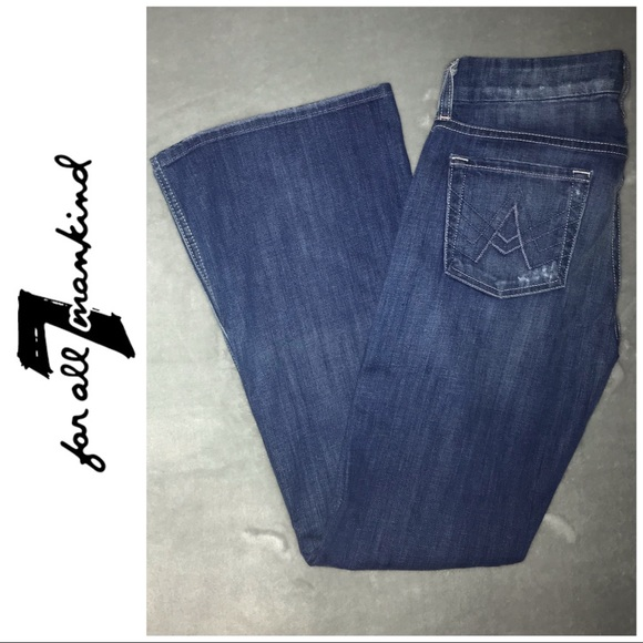 7 For All Mankind Denim - 7 For All Mankind Distressed A Pocket Jeans 25